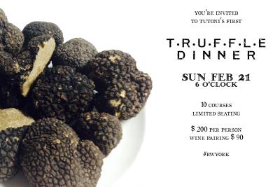 Tutoni's Truffle Dinner