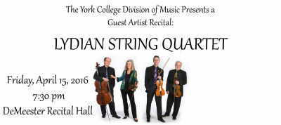 York College Division of Music Presents a Guest Artist Recital:The Lydian String Quartet