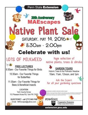 20th Anniversary Maescapes Native Plant Sale