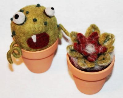 Needle Felting-Plant Monsters and Succulents