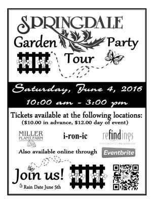 Springdale Garden Party Tour