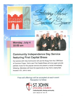 Community Independence Day Service featuring First Capital Brass