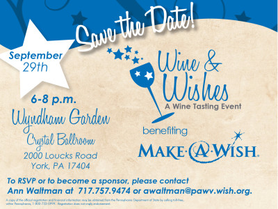 Wine & Wishes - A Wine Tasting Event