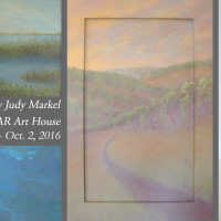 """Peaceful Escapes"" exhibit by Judy Markel"
