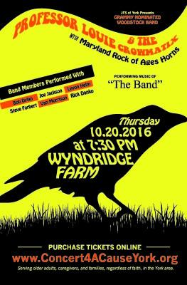 Concert 4 A Cause York @ Wyndridge Farm featuring Professor Louie & the Crowmatix