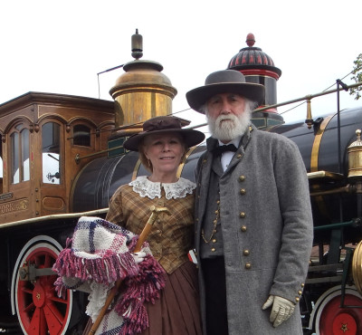 General and Mrs. Lee on the Rails