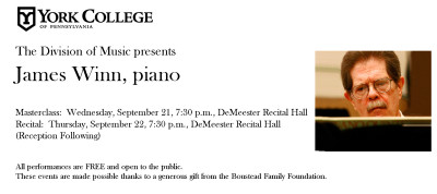 Guest Artist Recital: James Winn, piano