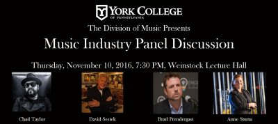 York College of Pennsylvania: Music Industry Panel Discussion