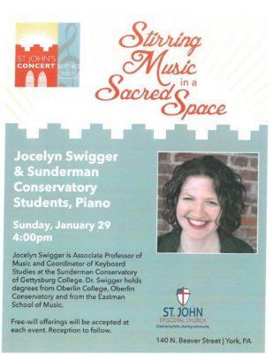 Jocelyn Swigger & Sunderman Conservatory Students ...