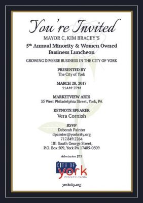 Mayor Bracey's 5th Annual Minority & Women Owned Business Luncheon