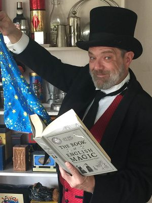 Magician Marc Charisse on the Hanover Junction Railroad Experience