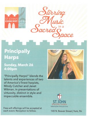 St. John's Concert Series - Principally Harps