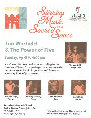 St. John's Concert Series - Tim Warfield & The Power of Five