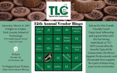Typical Life Corporation 12th Annual Vendor Bingo
