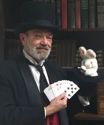 The Professor of Prestidigitation, Dr. Marc Charisse on the Hanover Junction Railroad Experience