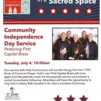 July 4th Worship Service & Patriotic Concert