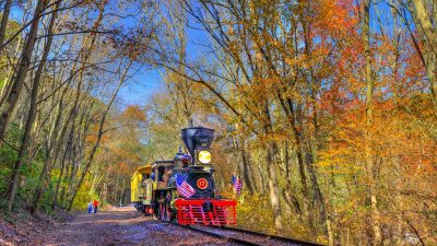 Fall Foliage on the Glen Rock Railroad Experience with No. 17 and J.W. Gitt
