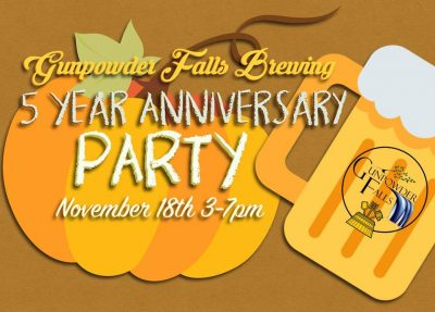 5th Anniversary Party @ Gunpowder Falls Brewing!