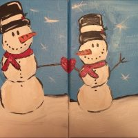 Parent & Child Snowman Painting