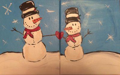 Parent & Child Snowman Painting