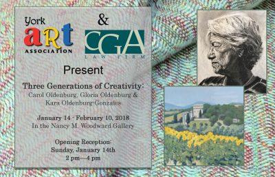 Three Generations of Creativity: Carol Oldenburg, Gloria Oldenburg, and Kara Oldenburg-Gonzales
