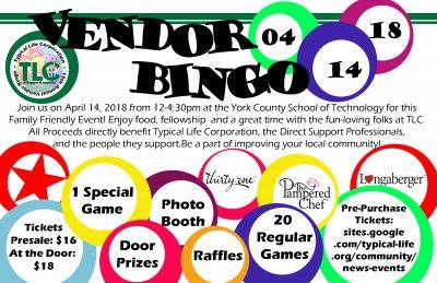 13th Annual Vendor Bingo
