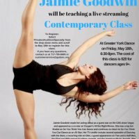 Live Streaming Dance Class from L.A.! Contemporary with Jaimie Goodwin