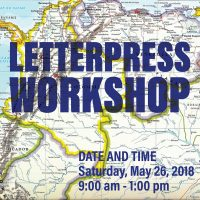 Letterpress Workshop: Mapping it out.