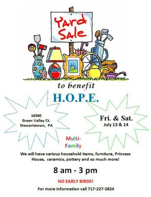 Yard Sale to benefit H.O.P.E. (Help for Oncology P...