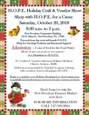 H.O.P.E.'s Holiday Craft and Vendor Show