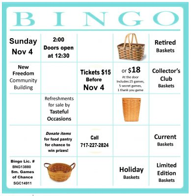 Fall Basket Bingo