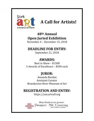 CALL FOR ENTRY: 48th Annual Open Juried Exhibition...