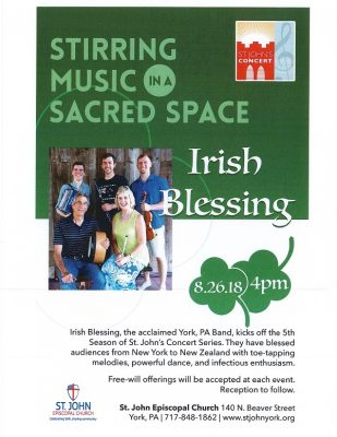 St. John's Concert Series - Irish Blessing