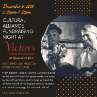 Cultural Alliance Fundraiser Night at Victor's!