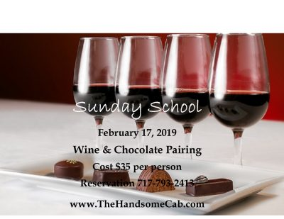 Sunday School - Wine & Chocolate Pairing