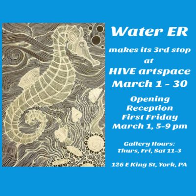 Water ER at HIVE artspace in March