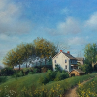 A1 Spring LANDSCAPE PAINTING IN OIL, ACRYLIC AND PASTEL