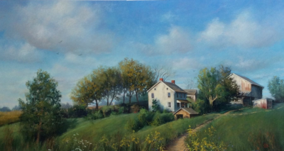A1 Spring LANDSCAPE PAINTING IN OIL, ACRYLIC AND P...