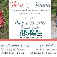 Flora & Fauna: Fundraiser Art Show at HIVE art...