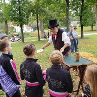 Magician Marc Charisse on the Glen Rock Express