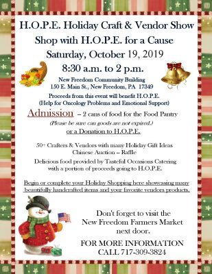 H.O.P.E.'s Holiday Craft & Vendor Show