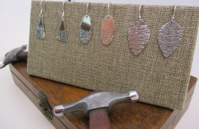 HAMMERED STERLING SILVER EARRINGS CLASS 6/8/19, 3:...