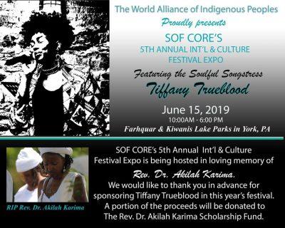 SOF Core's Fifth Annual International & Culture Festival EXPO - JUNE 15th
