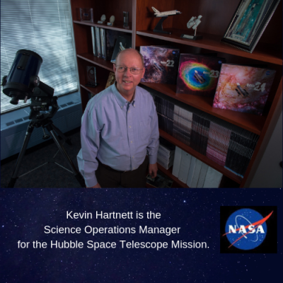 Kreutz Creek Library hosts Kevin Hartnett of the Hubble Space Telescope Mission at NASA