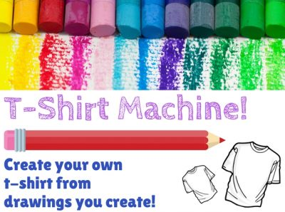Design your own T-shirt, all ages