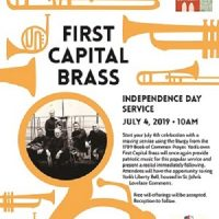 July 4th Service and Brass Concert