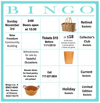 H.O.P.E.'s Fall Basket Bingo