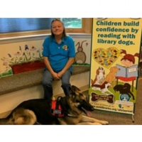 Sit , Stay, Read! Therapy Dog Sadie seeks readers! | Elementary school students