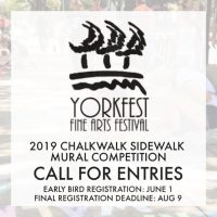 Call for Entries: Yorkfest Chalkwalk Sidewalk Mural Competition