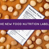 The New Food Nutrition Labels